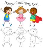 Doodle children day graphic royalty free illustration
