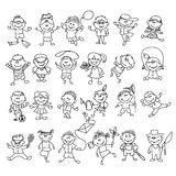 Doodle children on vacation Royalty Free Stock Image