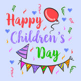 Doodle of childrens day background Royalty Free Stock Image