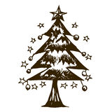Doodle Chirstmas tree Stock Photo