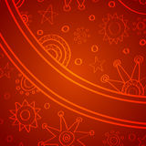 Doodle christmas background Royalty Free Stock Photos