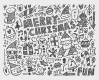 Doodle Christmas background Royalty Free Stock Image