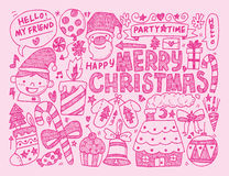 Doodle Christmas background Stock Photos