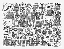 Doodle Christmas background Royalty Free Stock Images