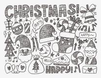 Doodle Christmas background Stock Photo