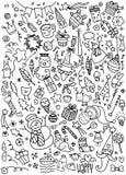 Doodle Christmas background Royalty Free Stock Image