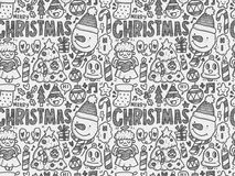 Doodle Christmas background pattern Royalty Free Stock Photography