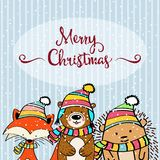 Doodle Christmas card stock illustration
