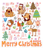 Doodle Christmas element. vector illustration Royalty Free Stock Photography