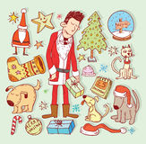 Doodle Christmas element. vector illustration Royalty Free Stock Images