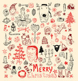 Doodle Christmas element. vector illustration Royalty Free Stock Image