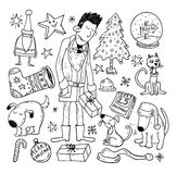 Doodle Christmas element. vector illustration Royalty Free Stock Photos