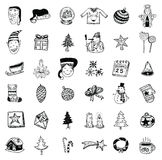 Doodle Christmas element. vector illustration Stock Photography