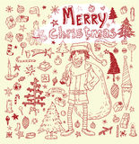 Doodle Christmas element. vector illustration Stock Image