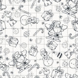 Doodle Christmas pattern Stock Image
