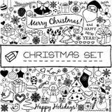 Doodle Christmas season icons Royalty Free Stock Photos