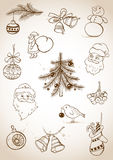 Doodle Christmas set Royalty Free Stock Images