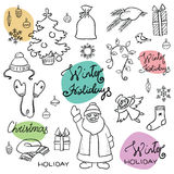 Doodle christmas set Stock Images