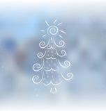 Doodle Christmas tree Royalty Free Stock Image