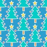 Doodle Christmas tree Stock Image