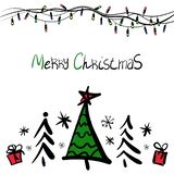 Doodle Christmas Vector color stock illustration