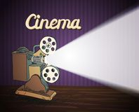 Doodle cinema projector Royalty Free Stock Image