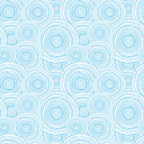 Doodle circle water texture seamless pattern Royalty Free Stock Photos