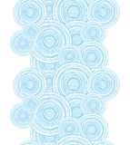 Doodle circle water texture vertical border Stock Image