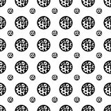 Doodle circles abstract pattern. Black and white colors. Seamless pattern can be used for wallpaper, pattern fills, web page background, surface textures Royalty Free Illustration