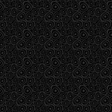 Doodle circles black seamless background Royalty Free Stock Image