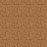Doodle circles brown beige seamless background Stock Photography