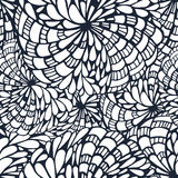Doodle circles and curves outline ornamental seamless pattern Royalty Free Stock Photos