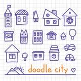 Doodle city Stock Image