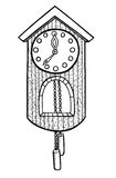Doodle clock vector illustration Stock Photography