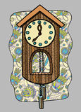 Doodle clock vector illustration Royalty Free Stock Image