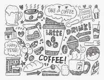 Doodle coffee Royalty Free Stock Images