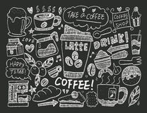 Doodle coffee Stock Images