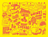Doodle coffee Royalty Free Stock Image