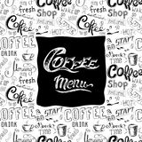 Doodle coffee  menu  background Stock Images