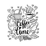 Coffee time. Doodle of Coffee time illustration Stock Photo