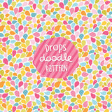 Doodle color drops seamless pattern. Stock Image