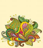 Doodle color floral background Royalty Free Stock Photos