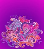 Doodle color floral background Stock Images