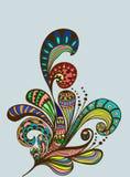 Doodle color floral background Stock Photos