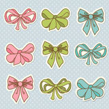 Doodle colored bow icons Royalty Free Stock Photography