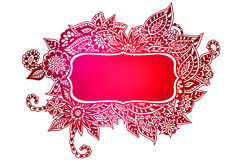 Doodle colored frame Stock Image