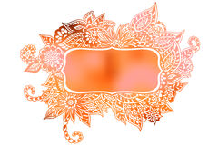 Doodle colored frame Royalty Free Stock Photography