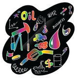 Doodle colorful oil and oil slick Stock Photos