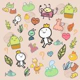 Doodle Colorful pattern stock illustration