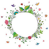 Doodle colorful spring background Stock Photos